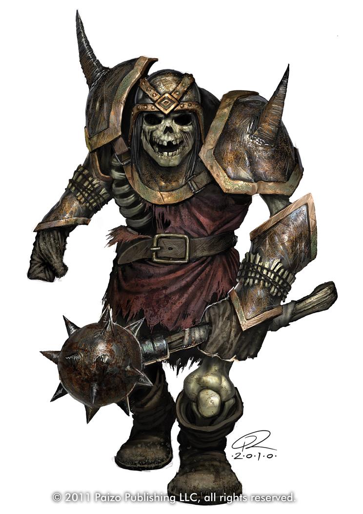 Ogre Skeleton by Akeiron