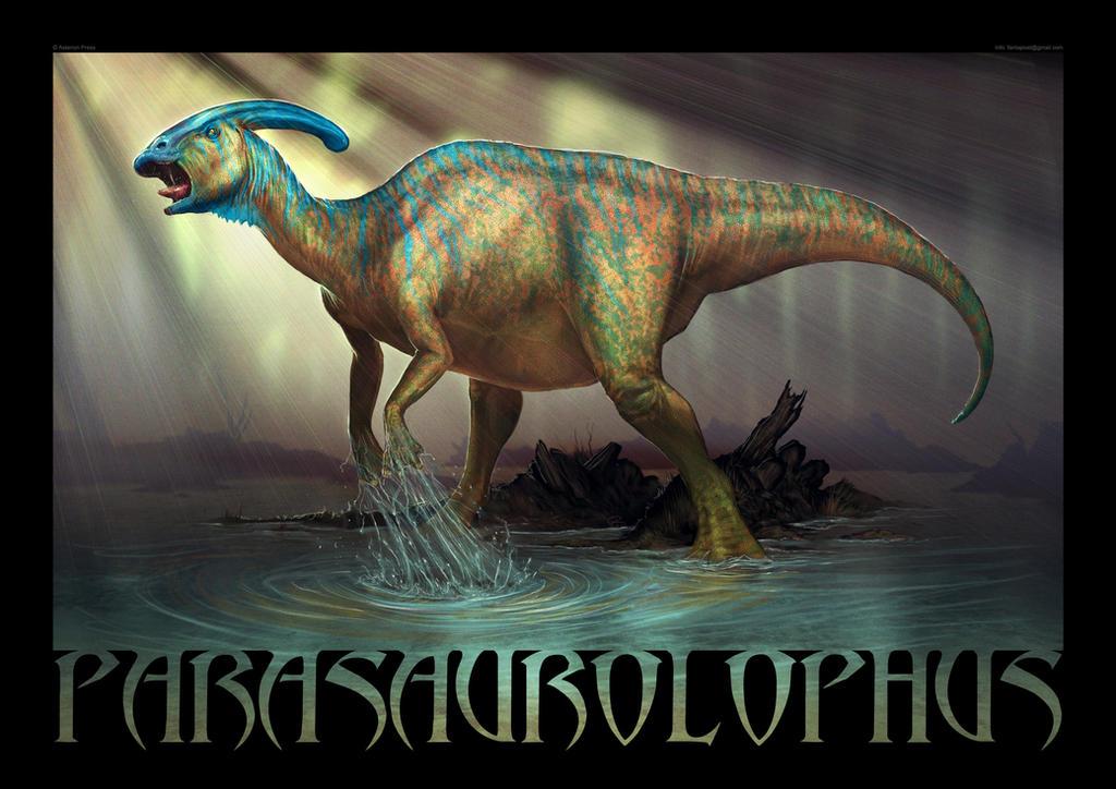 Parasaurolophus by Akeiron