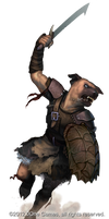 Dog-face Kobold fighter