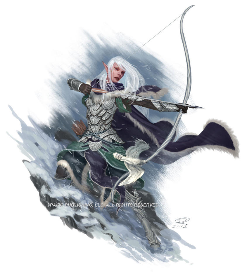 Snowcaster Elf by Akeiron