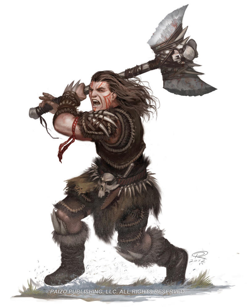Kellid Barbarian by Akeiron