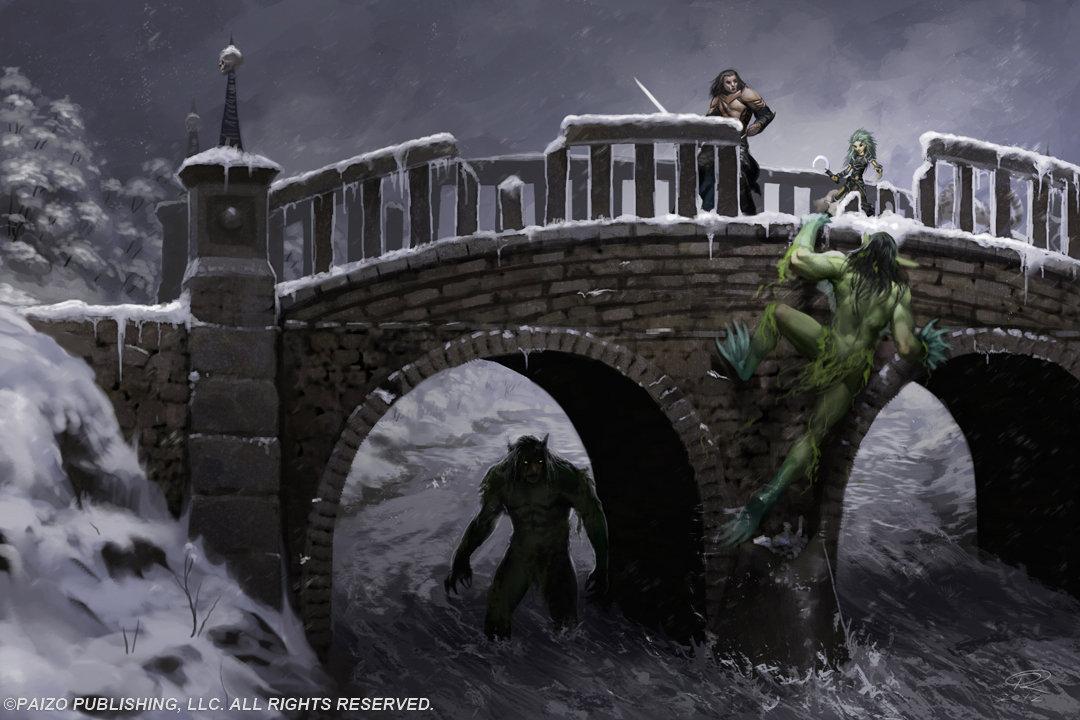 Troll Bridge by Akeiron