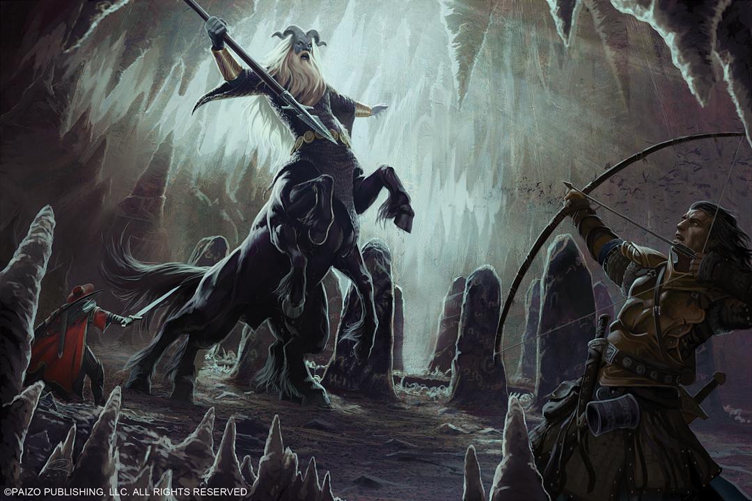 Frost Giant Centaur Battle by Akeiron on DeviantArt