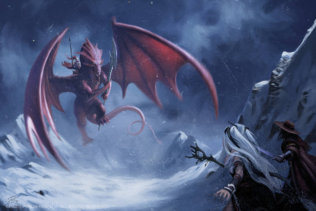 Dragon Rider Approach by Akeiron