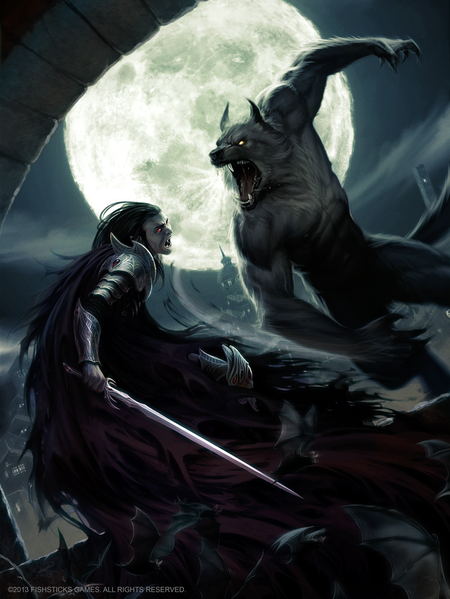 Lycan VS Vampire by Akeiron