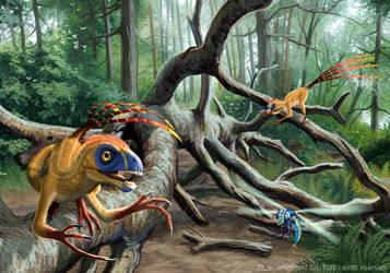 Epidexipteryx hui by Akeiron