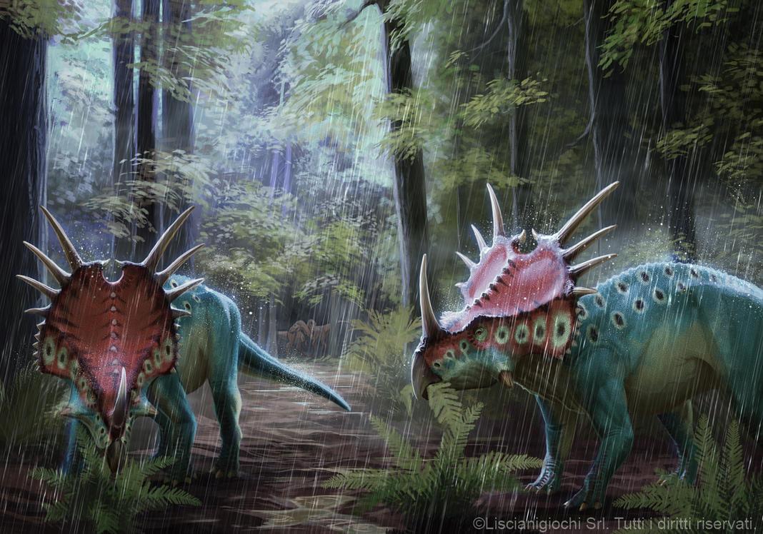 Styracosaurus albertensis by Akeiron