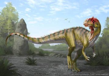 Allosaurus fragilis by Akeiron
