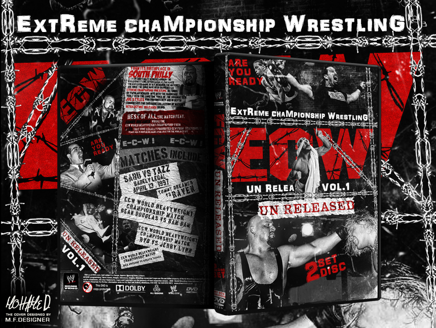 Wwe Ecw Un Released Dvd Cover by PHILLIPJACKBROOKS