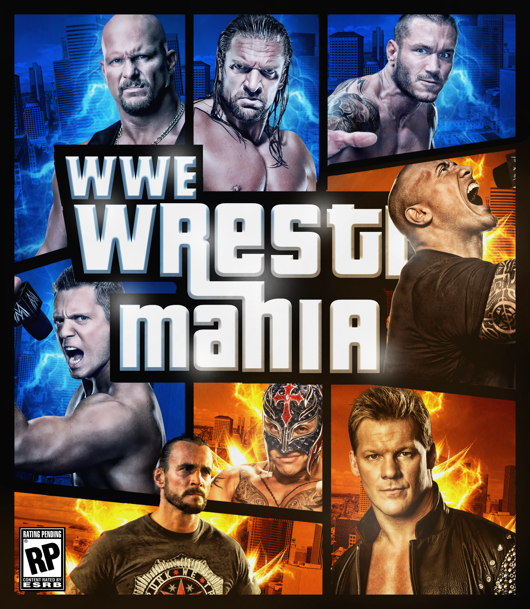 Wrestlemania The Game Fan made Cover ( gta style ) by Mohamed-Fahmy