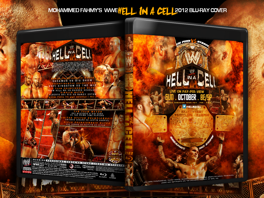 Wwe Hell In a Cell 2012 Blu-Ray Cover by PHILLIPJACKBROOKS