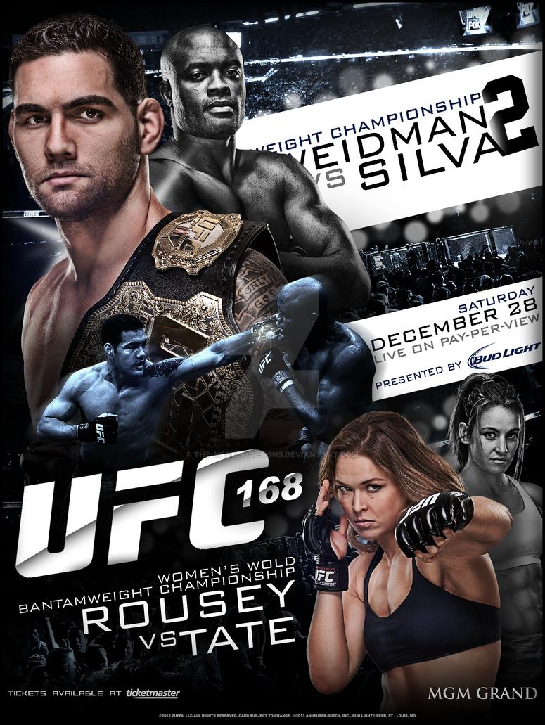 Ufc 168 Poster UFC 168 custom poster ...
