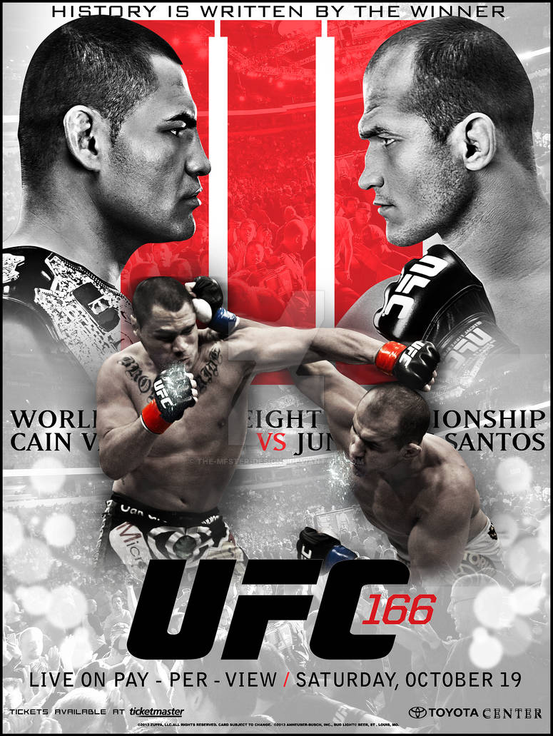 UFC 166 custom poster . by THE-MFSTER-DESIGNS on DeviantArt