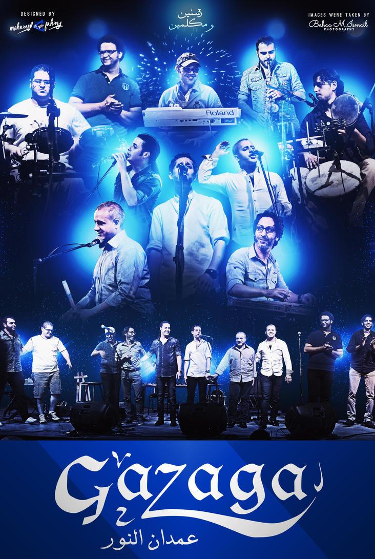 GAZAGA Band third birthday celebration poster by PHILLIPJACKBROOKS