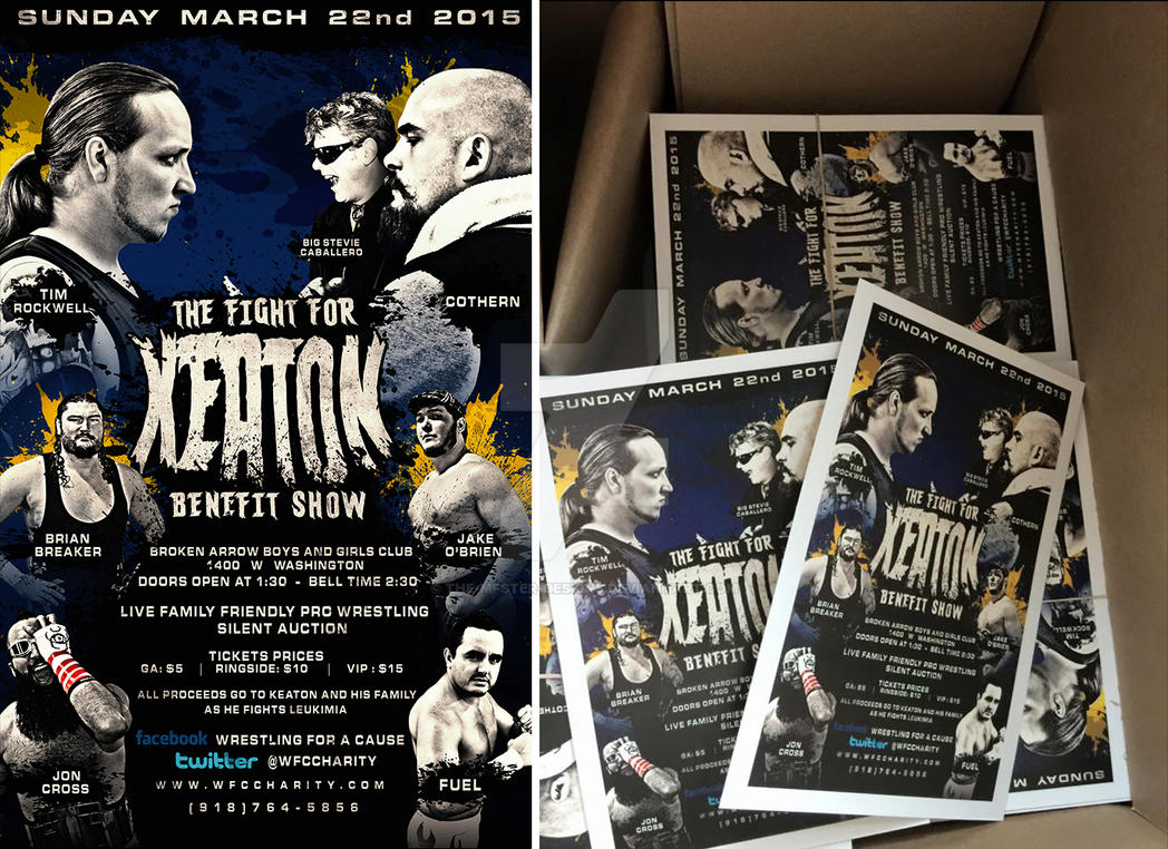 WFC The fight for keaton benefit show poster by Mohamed-Fahmy