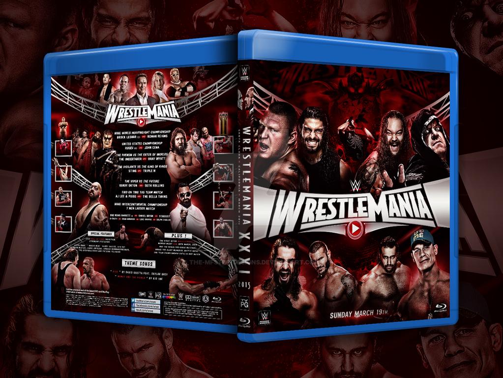 Wrestlemania XXXI Custom Blu-ray Cover by Mohamed-Fahmy