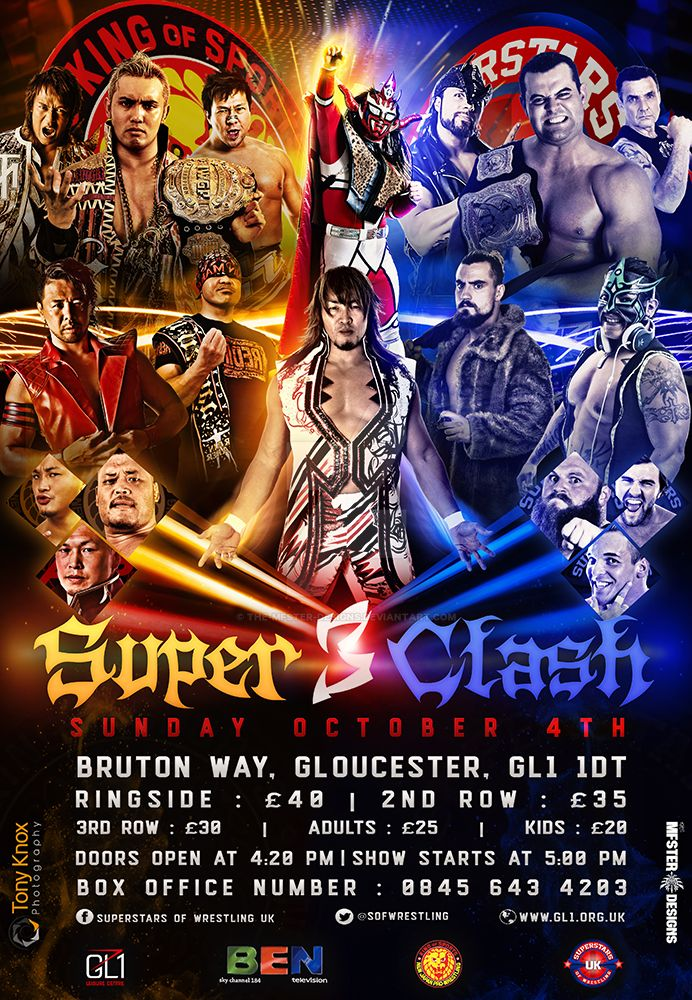 SOFWRESTLING/NJPW SUPERCLASH 3 Official flyer by Mohamed-Fahmy