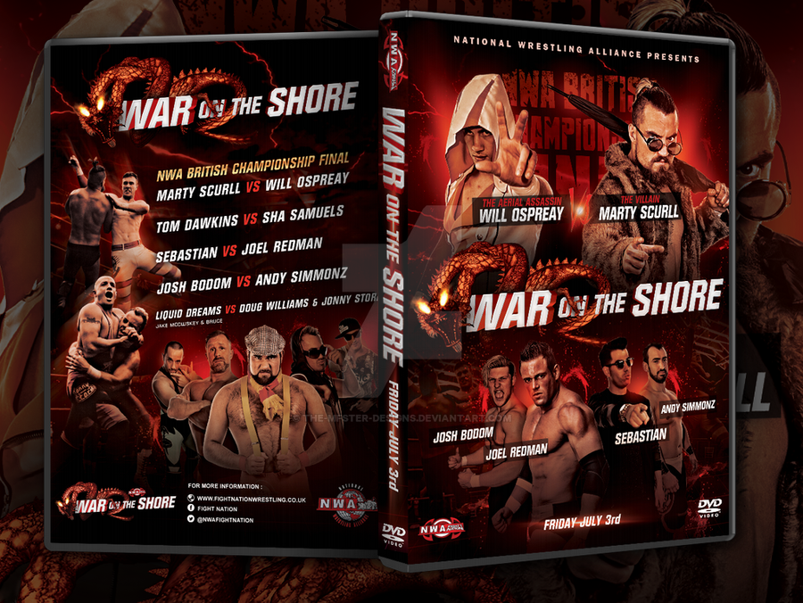NWA Fight! Nation War on the shore DVD cover by Mohamed-Fahmy