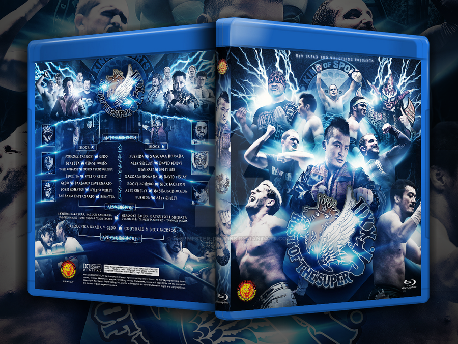 NJPW Best of the super Juniors XXII Blu-ray cover by Mohamed-Fahmy