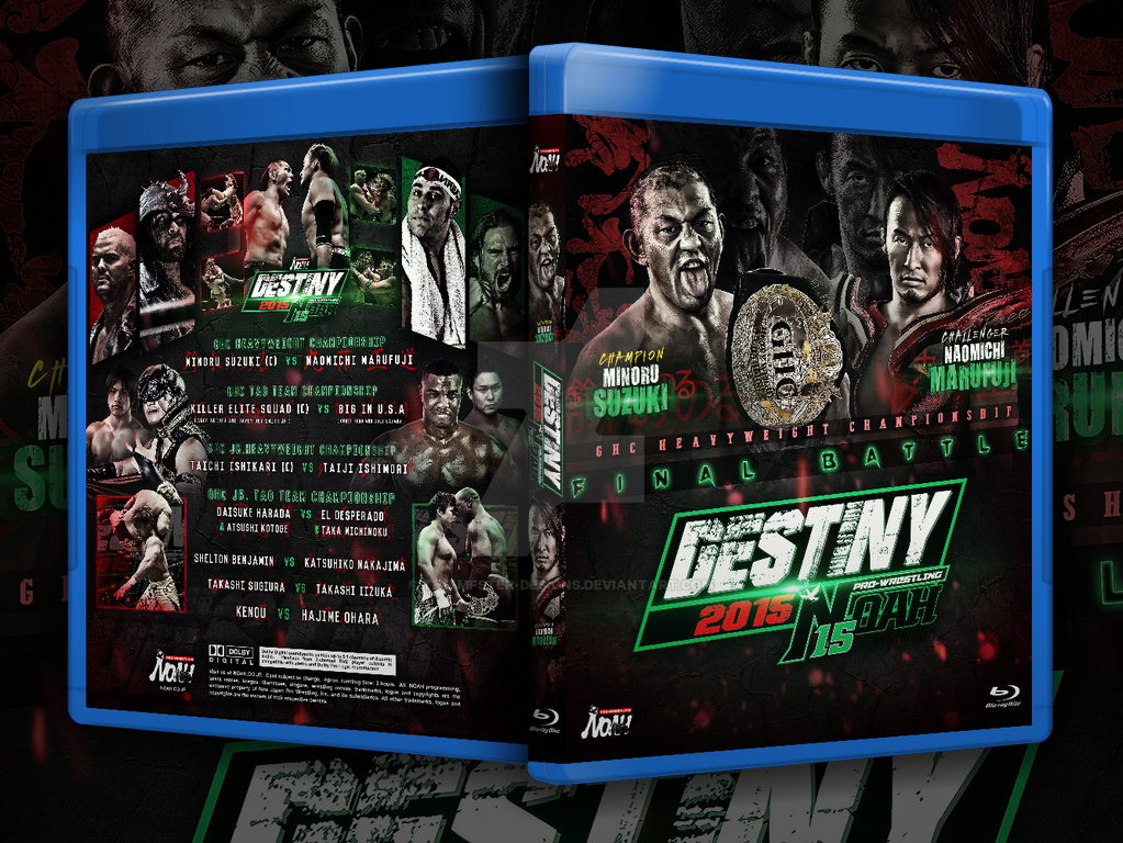 Pro-Wrestling NOAH Destiny 2015 custom cover by Mohamed-Fahmy
