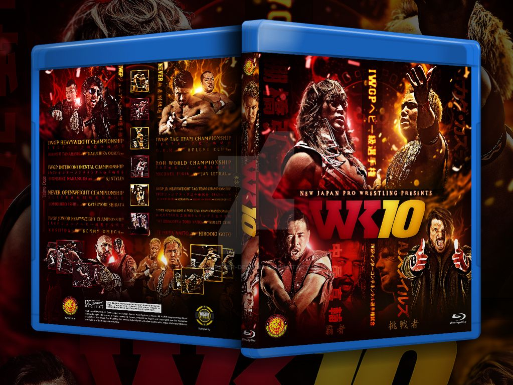 NJPW Wrestle kingdom 10 blu-ray cover by Mohamed-Fahmy