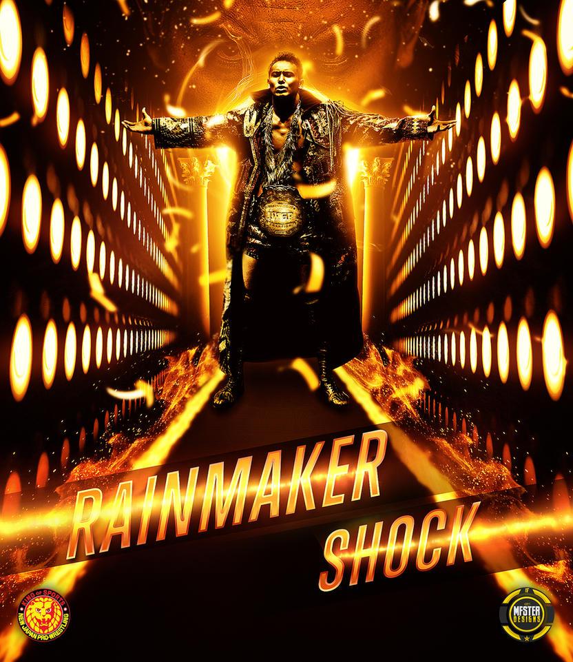 Kazuchika okada  Rainmaker shock Custom poster by Mohamed-Fahmy