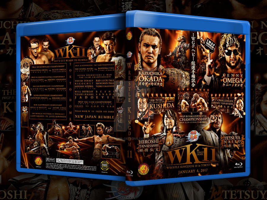 Wrestle Kingdom 11 custom Blu-ray cover by THE-MFSTER-DESIGNS