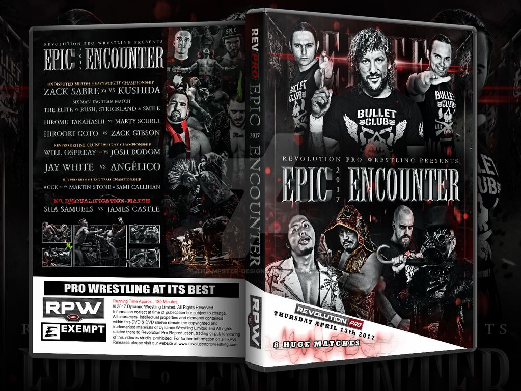 RPW Epic Encounter 2017 official DVD artwork by THE-MFSTER-DESIGNS