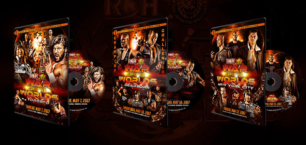 Official ROH War Of The Worlds 2017 DVD artworks by THE-MFSTER-DESIGNS