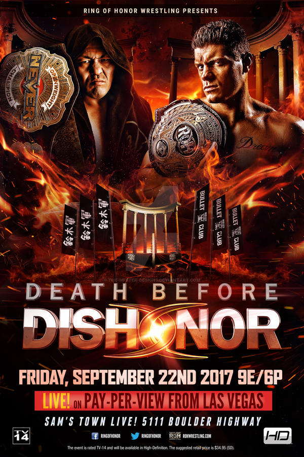 ROH Death Before Dishonor 2017 official poster by THE-MFSTER-DESIGNS