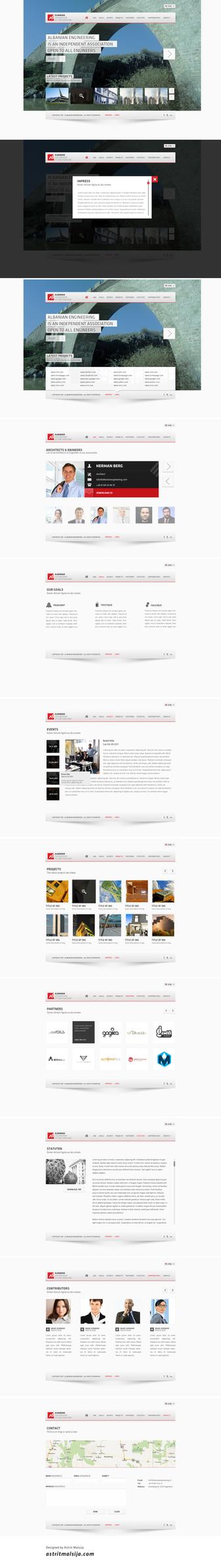 Albanian Engineering Web Design by blottah