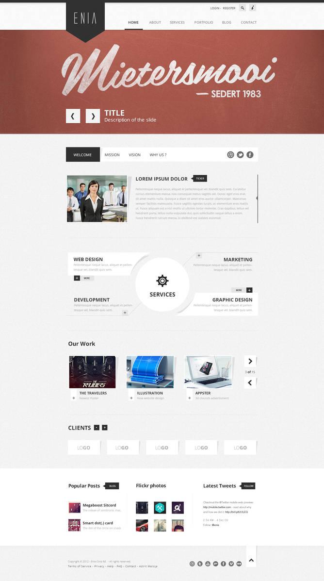Enia - Professional PSD template by blottah