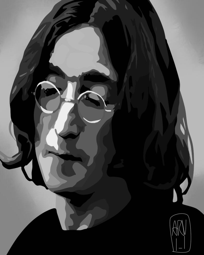 John Lennon by ARandomUserl-l
