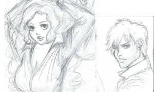 Ichihime Rough Sketch