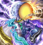 Celestia and Luna(Together We Rule) redo by EverchangingArt