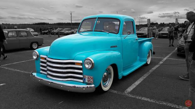 '51 Chevrolet 3100 Blue Custom