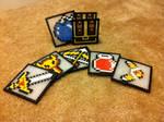 Zelda Perler Coaster Set