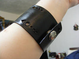 Leather Wrist Band - DB7 by Dandy-L