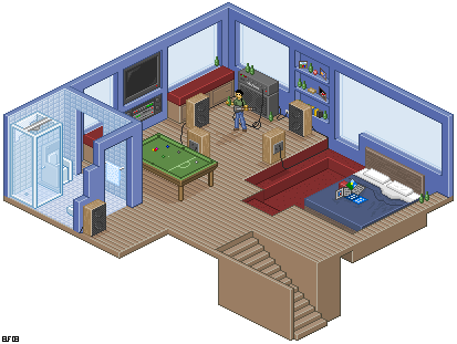 Dream Room 2 by rhysd ... Isometric Dream House Drawing