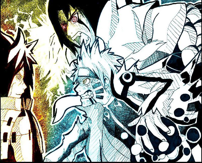 NARUTO FINAL BATTLE Naruto and Sasuke VS Madara by ...