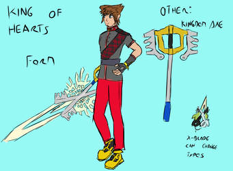 Sora King of Hearts by lemfern
