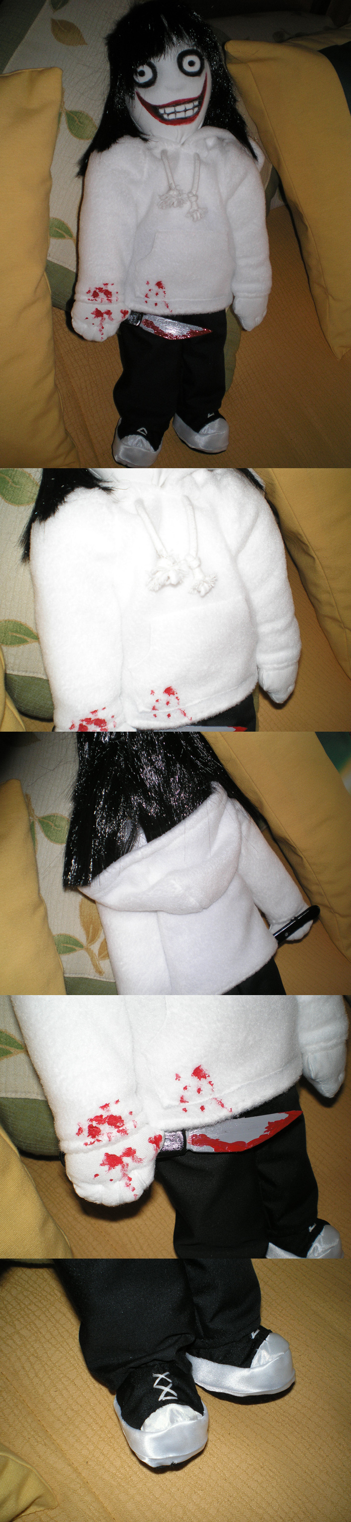 Jeff The Killer Plushy by Lagoon-Sadnes