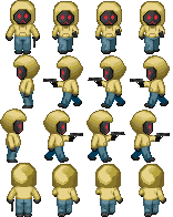 Hoody holding a gun - RPG Sprites by Lagoon-Sadnes