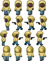 Hoody holding a gun - RPG Sprites by Lagoon-Sadnes