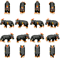 Fire Panther Summon - RPG Sprites by Lagoon-Sadnes