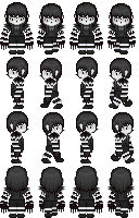 [Commission] Laughing Jack RPG sprites by Lagoon-Sadnes