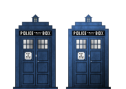 Pixel TARDIS by Lagoon-Sadnes