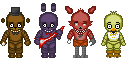 Sprite test - Five Nights At Freddy's animatronics by Lagoon-Sadnes