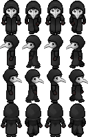 SCP-049 RPG sprite sheet by Lagoon-Sadnes