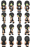 [Commission] Demi sprite sheet by Lagoon-Sadnes